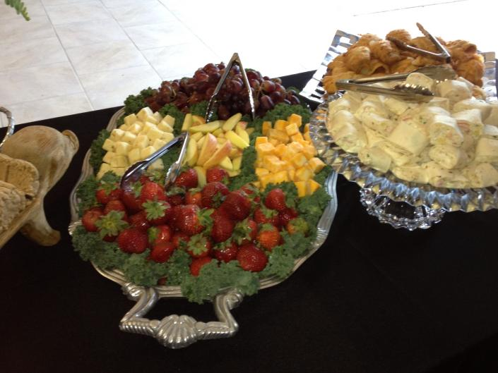 These beautiful fruit trays & dips are just the ticket for your next corporate event.